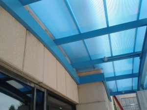 Glass Canopy System in blue
