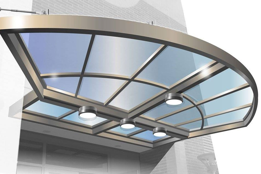 Modern Glass Awning, Modern Canopy Design, Modern Glass Awning